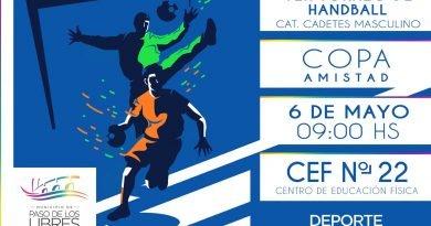 """6 de Mayo, 1º Torneo de Handball """"Copa Amistad"""""""