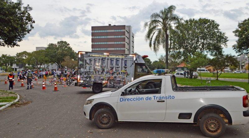 Agentes de Transito libreños, participan de Mayo Amarillo 2018 en Uruguayana