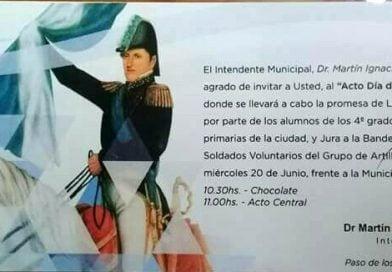 """Programa del Acto Central por el """"Día de la Bandera"""""""