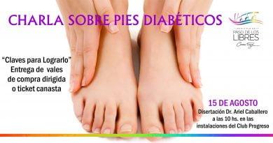 """Mañana, Charla sobre """"Pies diabéticos"""" y entrega de vales"""