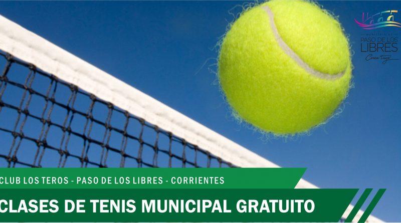 """Clases de Tenis Municipal Gratuito en el Predio """"Los Teros"""""""