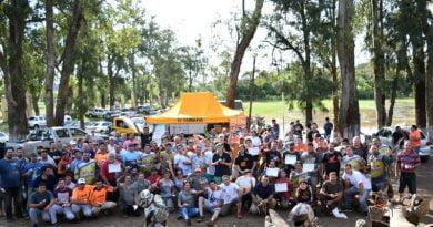 """174 motoqueros participaron de la Travesía """"Costa Río Uruguay"""""""