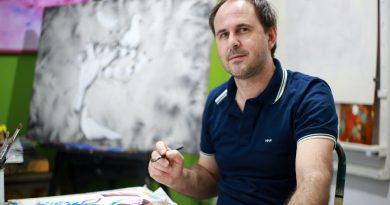 El artista plástico César Tschanz viajará a Nueva York a una muestra artística del Consulado