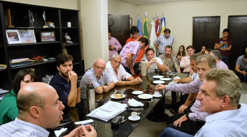 Martín Ascúa recibió al diputado nacional Agustín Rossi