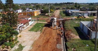 Obra pública en la ciudad: Continúan los trabajos en Av. San Martín y en Barrio 132