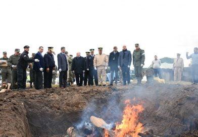 Ascúa participó en la quema de una tonelada y media de estupefacientes junto al Ministro de Seguridad Provincial