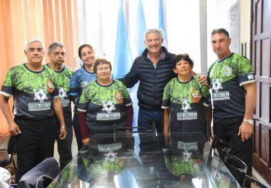 """El vice intendente Cuevas se reunió con el grupo libreño equipo """"SAPO"""""""