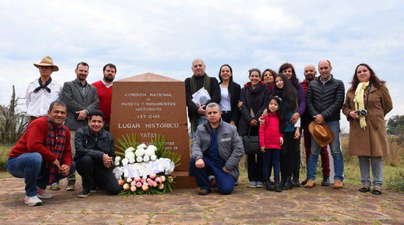 """El Municipio conmemoró la """"Batalla del Yatay"""" desde el Monolito en 5ta Sección Ombucito"""
