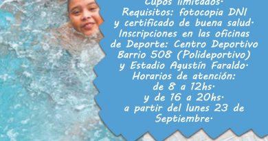 Lunes 23, inician las inscripciones para la Colonia de Vacaciones Municipal