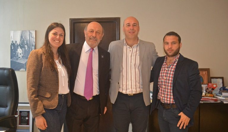Martín Ascúa recibió el Vicerrector de la Universidad de Avellaneda