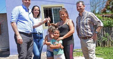 El Intendente entregó un nuevo módulo habitacional, ya son más de 45 en menos de dos años
