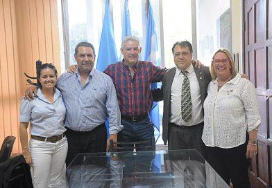 El gobernador del Rotary, distrito binacional 4845, en visita oficial al Club de Paso de los Libres se reunió con el  viceintendente Marcelo Cuevas