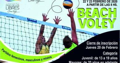 Jueves 20, finaliza la inscripción para el Primer Torneo de Beach Vóley en la Costanera