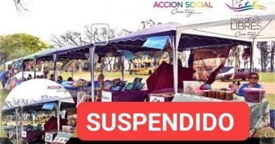 Por pronóstico de lluvias se suspende la Expo de Artesanos, productores y emprendedores