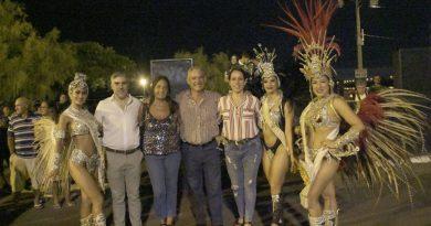 Promoción del Carnaval de Frontera en el ensayo técnico de la ciudad de Uruguaiana