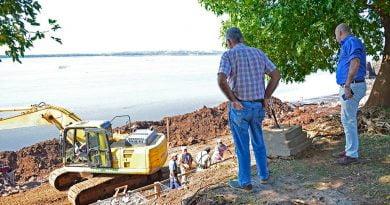 Ascúa recorrió obras en diferentes puntos de la ciudad