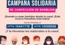 Campaña solidaria para confeccionar barbijos