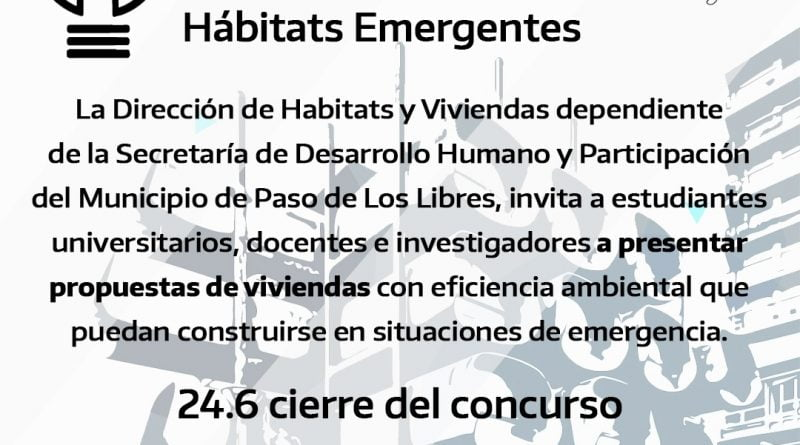 CONCURSO NACIONAL DE IDEAS HÁBITATS EMERGENTES
