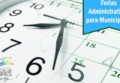 El Municipio definió las fechas de las ferias administrativas para sus trabajadores