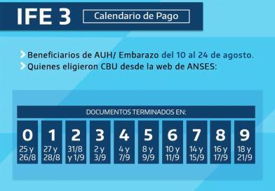 CRONOGRAMA DE PAGO IFE 3