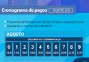 CRONOGRAMA DE PAGOS DE AGOSTO