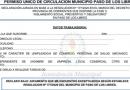 PERMISO ÚNICO PARA CIRCULACIÓN, EXCLUSIVO EMPLEADORES O DUEÑOS DE COMERCIOS DE PASO DE LOS LIBRES