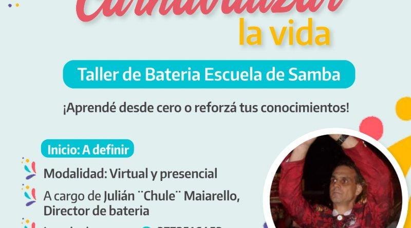 Libres: siguen abiertas las inscripciones para taller de Batería y Escuela de Samba