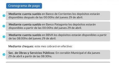 El Municipio de Paso de los Libres paga sueldo de abril desde este jueves 29