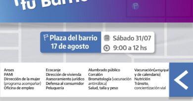 """Libres: este sábado 31/7 """"La Muni en tu barrio"""" llevará obras, servicios y gestiones a barrios 17 de Agosto"""